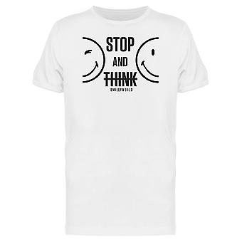 SmileyWorld Stop And Think Men's T-shirt
