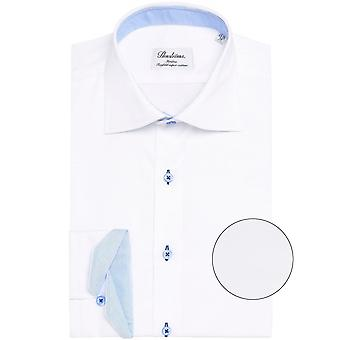 Stenstroms Fitted Body Stripe Trim Shirt