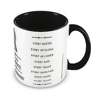 Game of Thrones cup For The Throne white/black, printed, made of ceramic, socket÷gen approx. 315 ml..