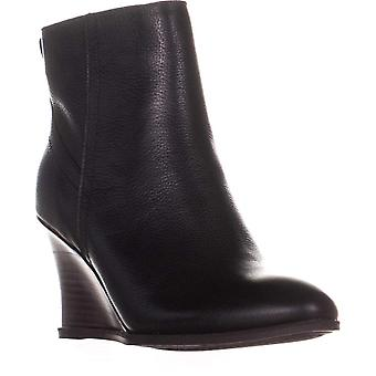 Lucca Lane Zippy Wedge High Ankle Boots, Black