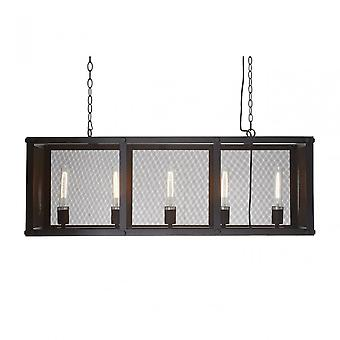 Premier Home Lexington Black Iron / Gauze Pendant Light, Fer, Noir