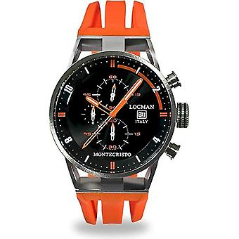 Locman Watches Men's Chronograph Montechristo 051000BKFOR0GOO