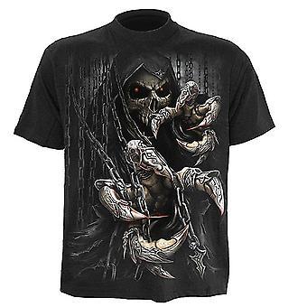 Spiraal-dood claws-mannen korte mouw t-shirt, zwart