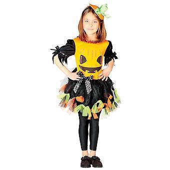 Mädchen Kinder Halloween Kürbis Fancy Kleid Kostüm