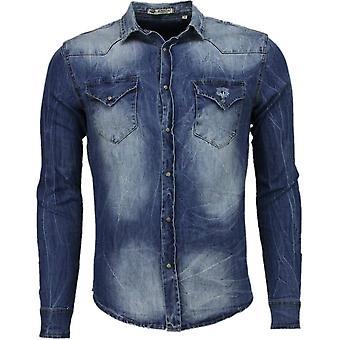 Denim- Slim Fit Long Sleeves - Basic Denim - Blue