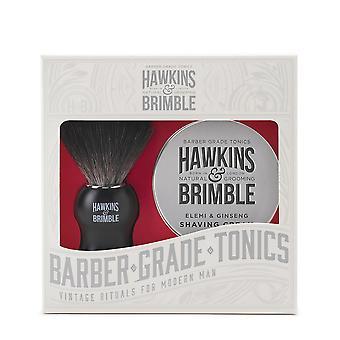 Hawkins & täynnä parranajo lahja setti 2PC (ajella harja & Shave kerma)