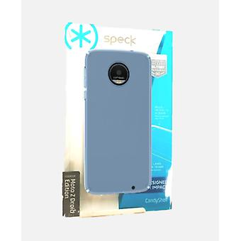 5 Pack -Speck CandyShell Case for Moto Z Droid - Clear Rainstorm Blue