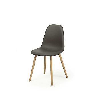 Ebédlő szék szék szett 4 Fynn sötétszürke valódi fa lábak bükk 10789