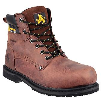 Amblers Safety Mens FS145 Waterproof Welted Lace up Safety Workboot Brown