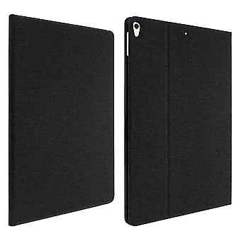 IPad Air 2019 and iPad Pro 10.5 Stand Folio Case, Heathered Texture- Black