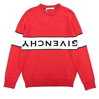 Givenchy Reverse Logo Sweater Red/white
