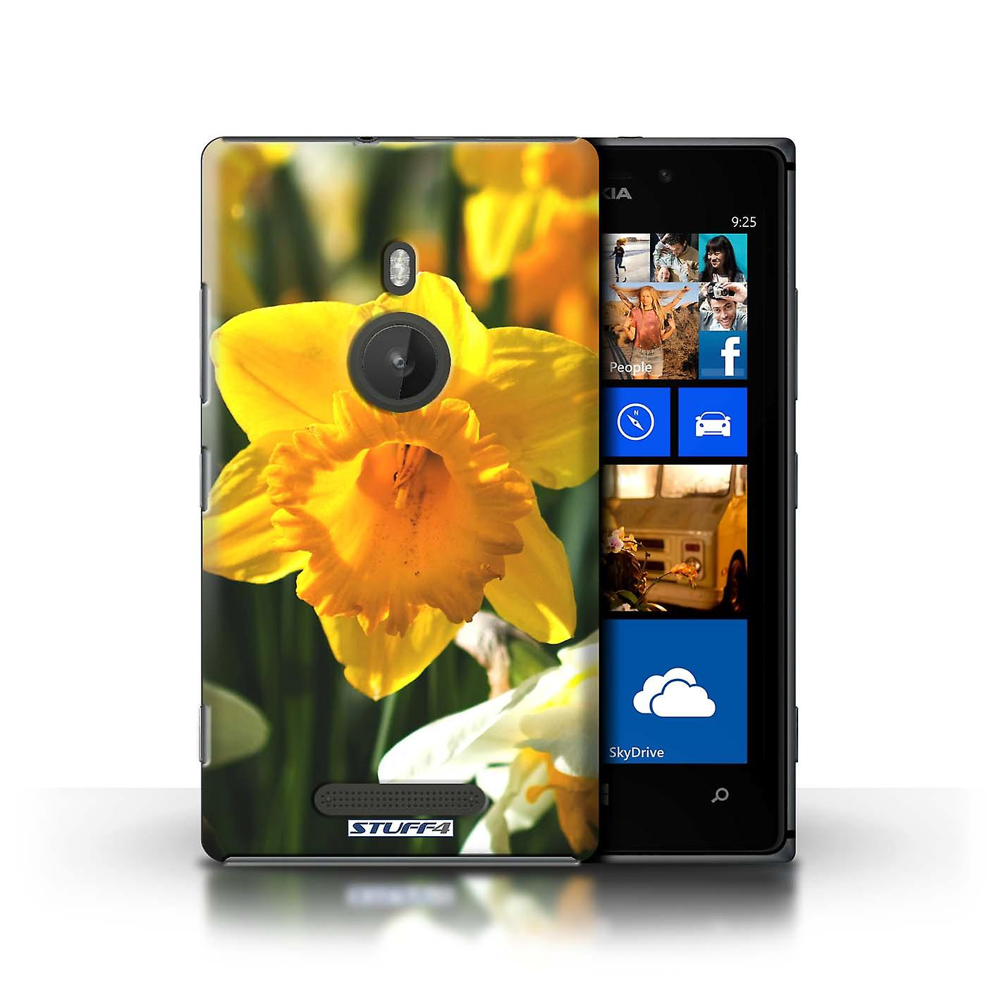 STUFF4 Case/Cover for Nokia Lumia 925/Daffodil/Floral Garden Flowers
