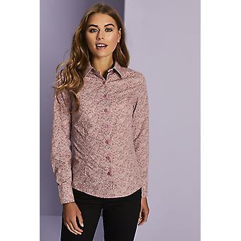 SIMON JERSEY Women's Pink Patterned Shirt