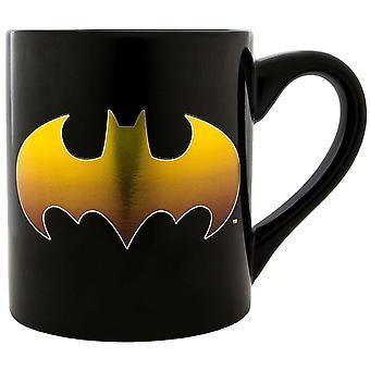 Batman ouro logo preto 14oz caneca