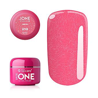 Base one-Neon-Baby pink 5g UV gel