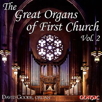 David Goode - The Great Organs of First Church, Vol. 2 [CD] USA import