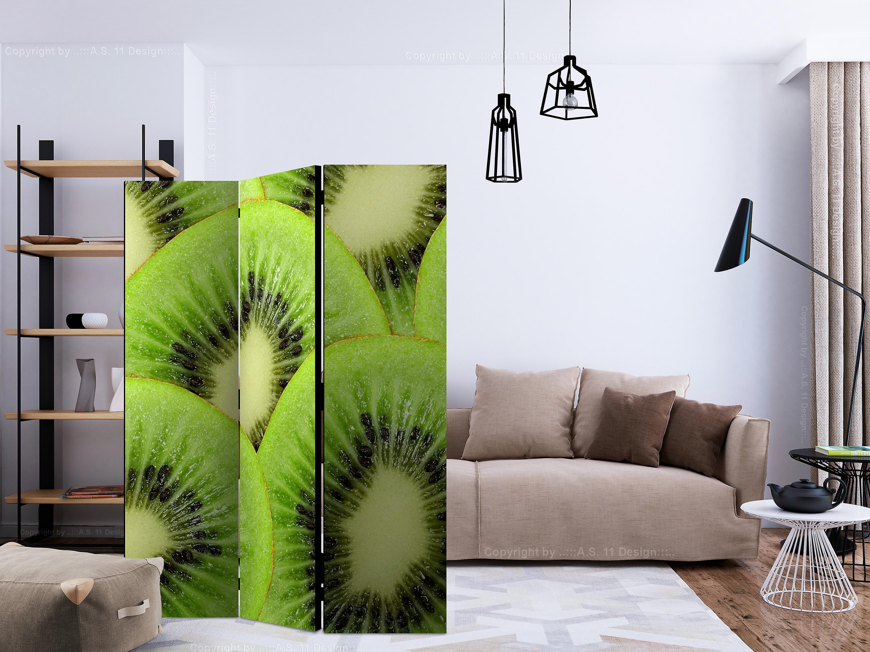 Paravent 3 volets - Kiwi slices [Room Dividers]