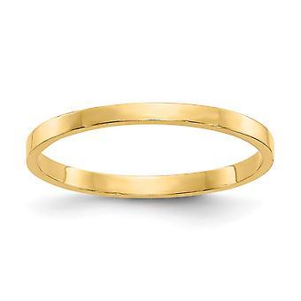 14k geel gouden solide hoog gepolijste Band voor jongens of meisjes Ring -.6 gram