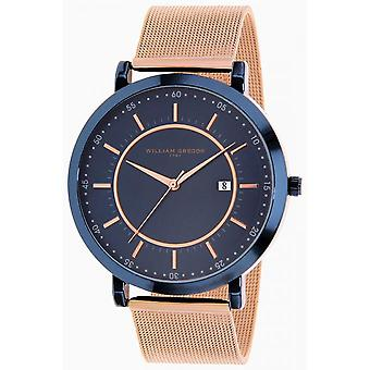 Watch William Gregor in 1791 BWG10023G-517 - dater steel man Rose Gold