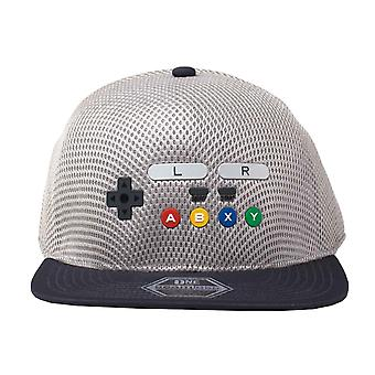 Nintendo Baseball Cap SNES Conrtoller Seamless new Official Flatbill Snapback