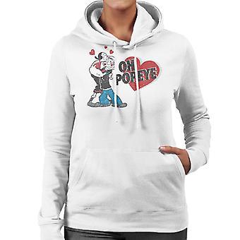 Popeye And Olive Oyl Love Women's Hooded Sweatshirt