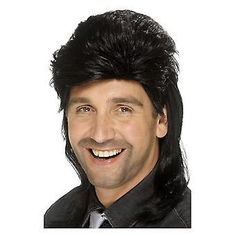 Miesten keltti peruukki musta naamiaispuku lisävaruste