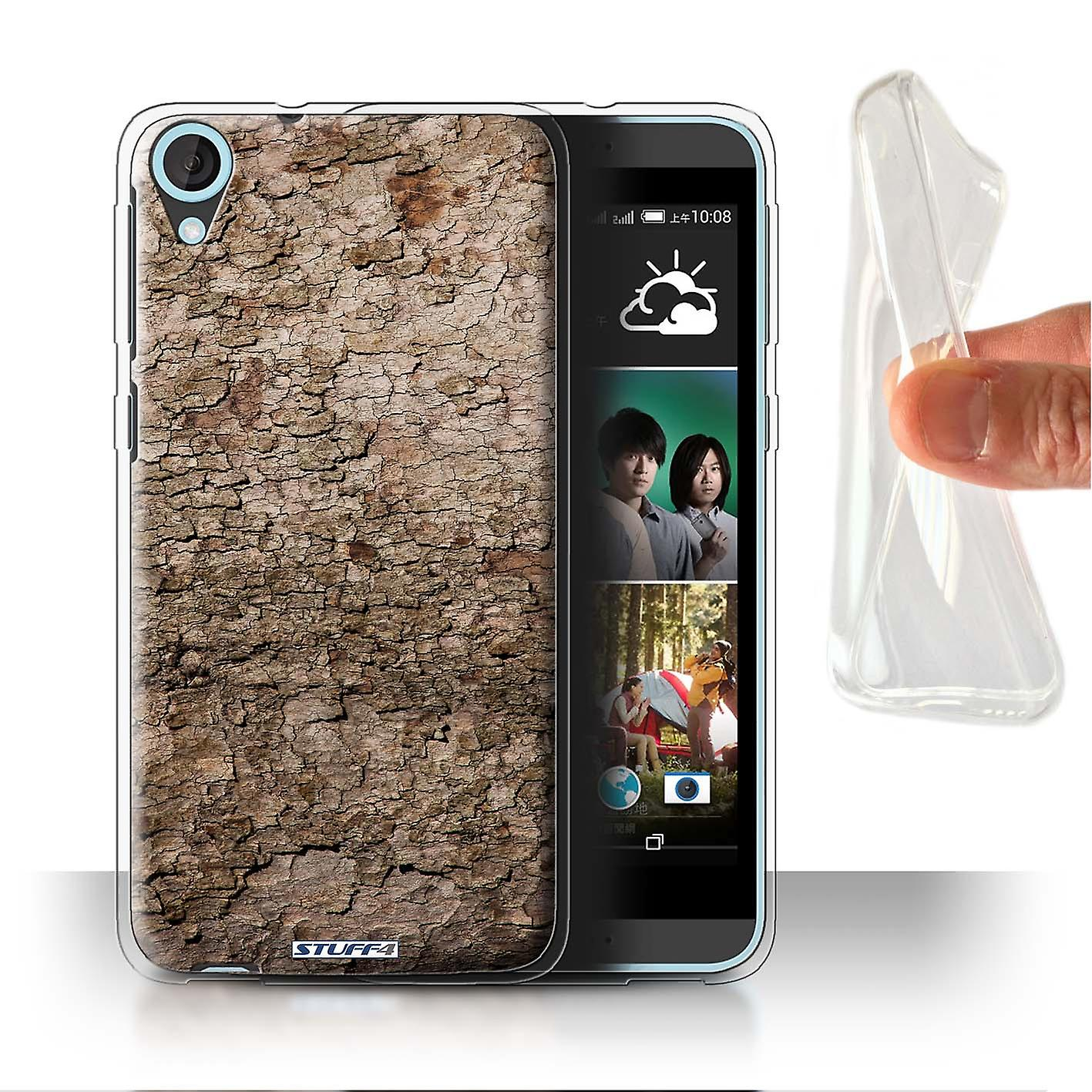 STUFF4 Gel/TPU Case/Cover for HTC Desire 820s Dual/Cracked/Tree Bark