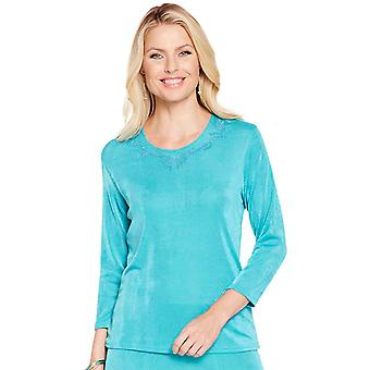 Amber Ladies Slinky 3/4 Sleeve Top
