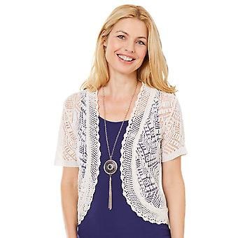 Amber Amber Ladies Pointelle Shrug