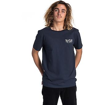 Rip Curl Cartoon Short Sleeve T-Shirt en bleu foncé