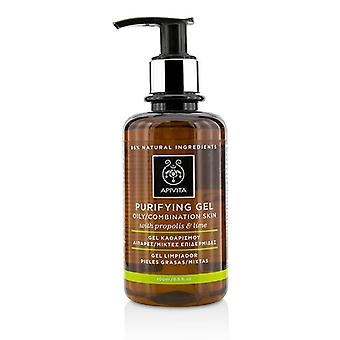 Apivita Purifying Gel With Propolis & Lime - For Oily/combination Skin - 200ml/6.8oz