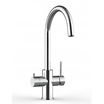 3way Kitchen Sink Mixer 100% Stainless Steel With Separated Water Flow For Water Filter System, Polished Finish - 370