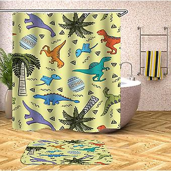 Cute Dinosaurs Pattern Shower Curtain