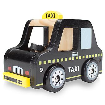 Wooden Wheels Taxi Cab