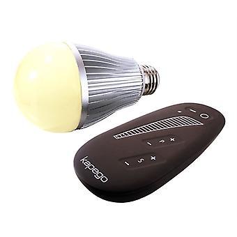 Bombilla LED E27 RF single 2700K 8W mando a distancia inalámbrico 180o