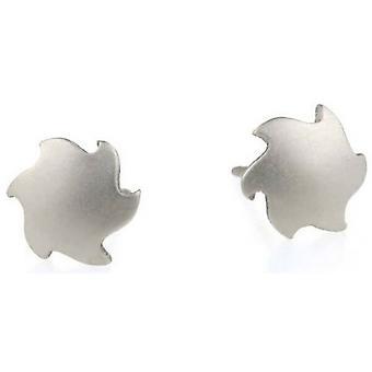 Ti2 Titanium Sun Stud Earrings - Natural