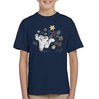 Simon's Cat Butterfly Floral Kid's T-Shirt