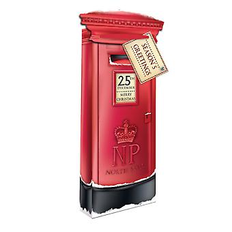 Eurowrap Christmas Bottle Gift Bags with Xmas Post Box Design (Pack of 12)