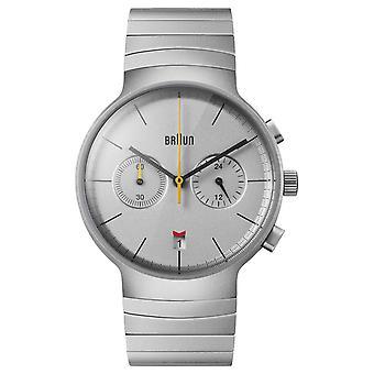 Braun Men's Chrono | Silver Dial | Stainless Steel Bracelet BN0265SLBTG Watch