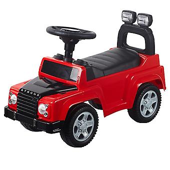 Moni Rutscher, children's car Strong 634 in red with music function, action buttons