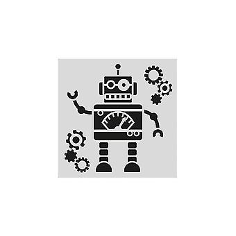 Stencil do robô da estrela do bolo