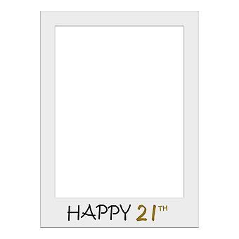 Large Size Birthday Selfie Photo Frame Party Props-Happy 21th Birthday