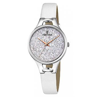Festina F20334-1 Donne's Mademoiselle Silver Tone Wristwatch