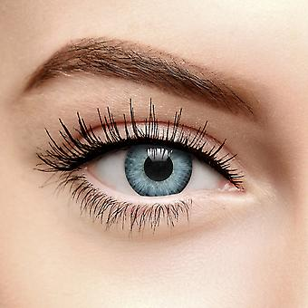 Blue Grey Two Tone Circle Colored Contact Lenses (90 Day)
