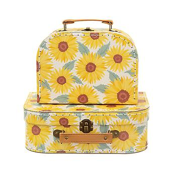 Sunflower Set of 2 Decorative Mini Suitcases Gift Home Decoration