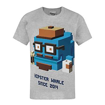 Crossy Road Hipster Whale Boy's T-Shirt