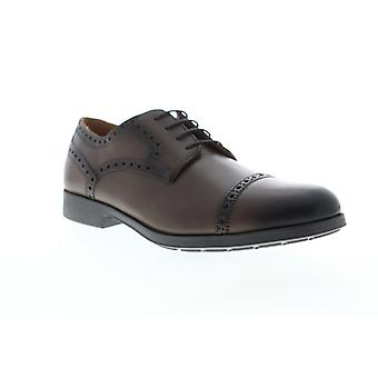 Geox U Hilstone 2Fit  Mens Brown Dress Lace Up Oxfords Shoes