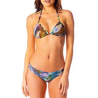 Tahiti tan through bikini top & brief set
