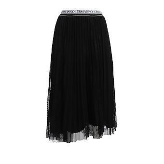 Ermanno Scervino Gn07ret99 Women's Black Polyester Skirt