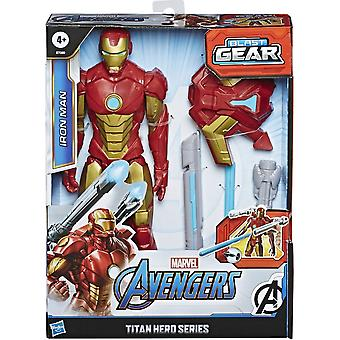 Marvel Avengers Iron Man Titan Hero Blast Gear 12 Inch Action Figure Set